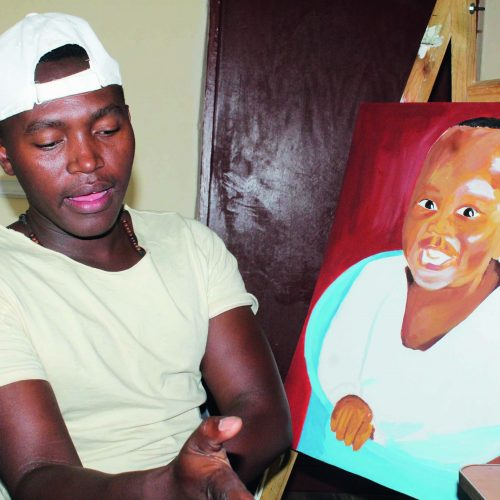 Painting himself  to fame