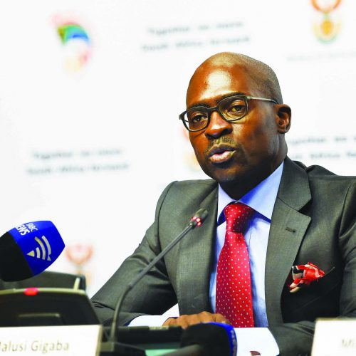 Gigaba and his things