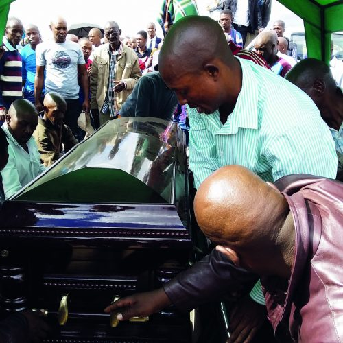 Mourners beaten up