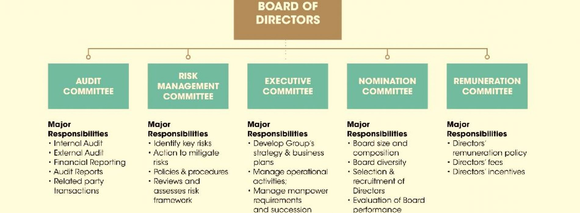 Responsibilities of  the Board of Directors