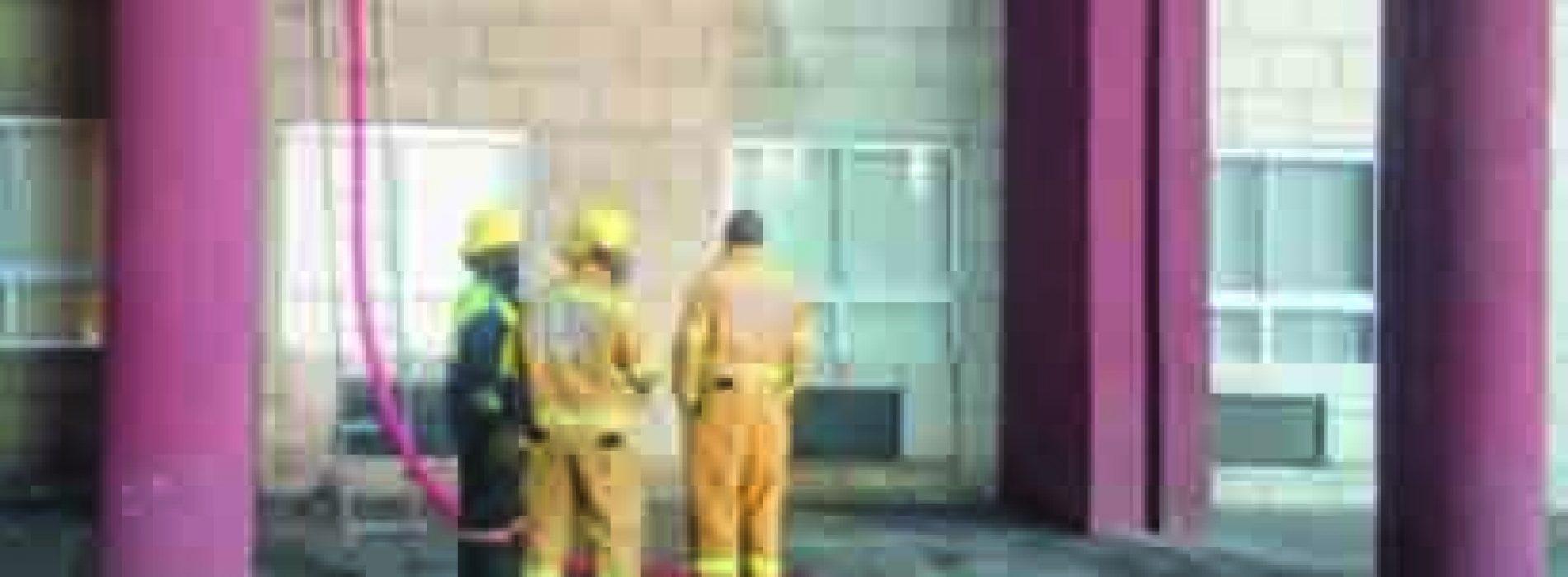 Fire guts health office