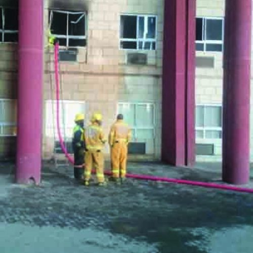 Fire guts health office