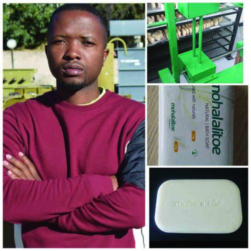 Fokothi  alumni makes soap machine