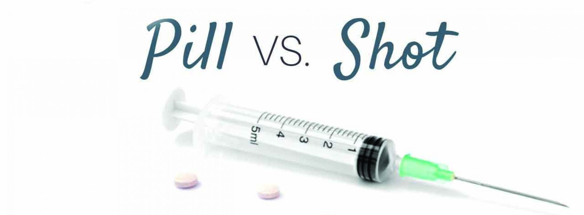 The shot versus  the pill dilemma!