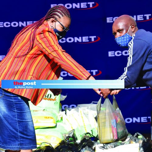 Econet donates food parcels to athletes