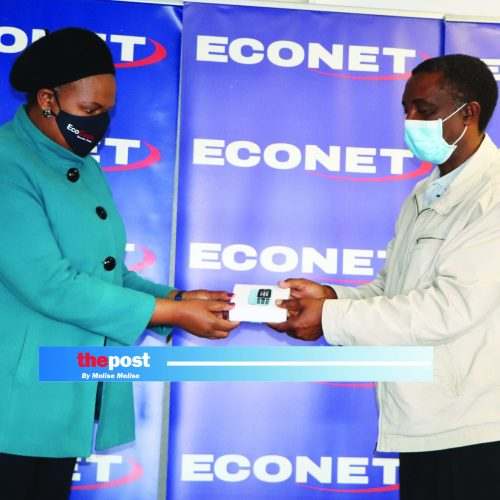 Econet hands over phones to fight Covid-19