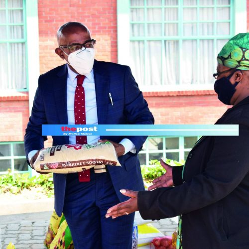 LEFA boss hands over food parcels