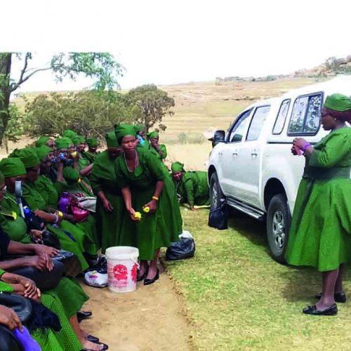 Woman sets leadership example