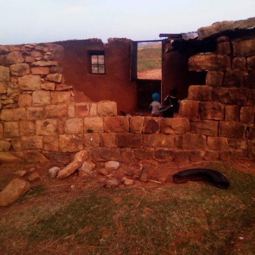 Violent storm batters villagers